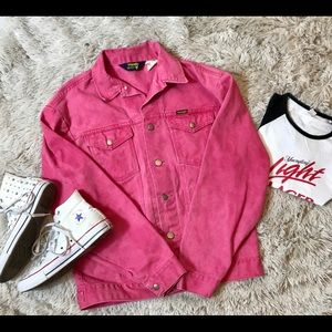 Red Vintage Wrangler Denim Jacket